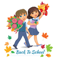 Back to school children vector image vector image