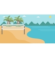 Background of beach volleyball court at seashore vector image