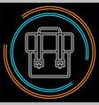 backpack icon - school symbol - travel icon vector image vector image