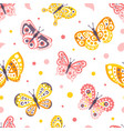 beautiful butterflies abstract seamless background vector image
