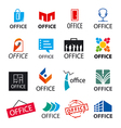 big set of logos office vector image vector image