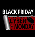 black friday and cyber monday banner poster vector image