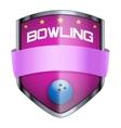Bowling Shield badge vector image vector image