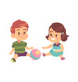 boy and girl play together cute little vector image vector image
