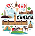 Canada pattern vector image vector image