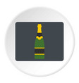 Champagne bottle icon circle vector image