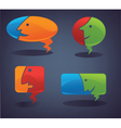 chat and talk collection of speech bubbles vector image vector image