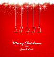 Christmas background design vector image vector image
