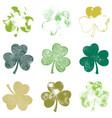 clover leaf grunge set vector image vector image