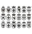 Coat of Arms set heraldic element vector image