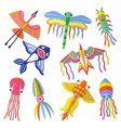 colored kites funny flying animals spring