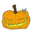 comic cartoon halloween pumpkin vector image vector image