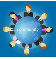 community people around globe business vector image