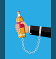 concept of alcohol addicted vector image
