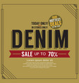 denim sale promotion banner vector image vector image