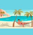 dream scene with beautiful beach vector image vector image