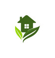 eco home logo design template vector image