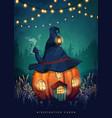 fairytale halloween poster vector image