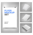 flyer mockups vector image
