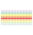 gear shape halftone spectrum array vector image vector image