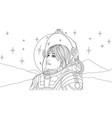 girl woman in astronaut vector image