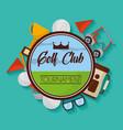 golf club tournament badge equipment sport vector image vector image