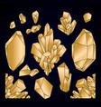 graphic pastel crystals vector image
