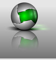 green colorful sphere as vector image vector image