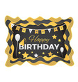 happy birthday abstract with paper vector image vector image
