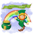 happy saint patrick s day greeting card vector image