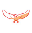 hawk eagle symbol vector image vector image