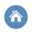 home symbol placed in blue circle vector image vector image