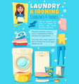 ironing laundry and washing housewife chores vector image