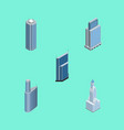 isometric building set of urban skyscraper vector image vector image