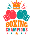 Kings boxing color new vector image
