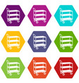 kitchen trolley icons set 9 vector image vector image