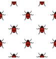 ladybug pattern flat vector image