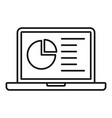 lesson laptop icon outline style vector image vector image