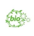 logo bio vector image