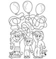 maze 8 coloring book with children vector image