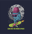 monster skate space vector image vector image