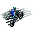 motocross rider on a motorcycle vector image