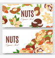 nuts collection flat cartoon set banners vector image