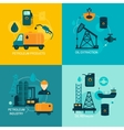 Oil industry flat composition vector image vector image
