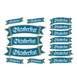 Oktoberfest banners in bavarian colors set Bavaria vector image