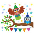 party owls theme image 3 vector image