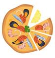 pizza fruti di mareprint vector image