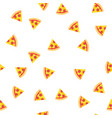 pizza slices with sausage and cheese pattern vector image