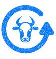 refresh bull icon grunge watermark vector image vector image