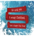 set christmas and new year red paper ribbons vector image vector image